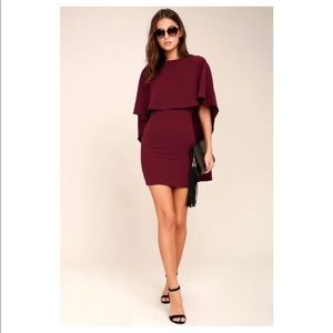 Lulu's Best is Yet to Come Burgundy Dress